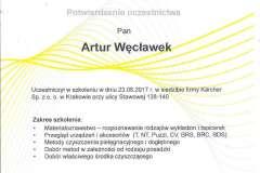 Certyfikat prania tapicerki oraz dywanów Karcher