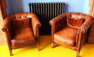 Czyszczenie foteli skórzanych